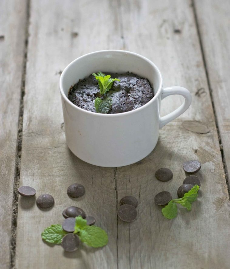Chocolate and Mint Mug Cake