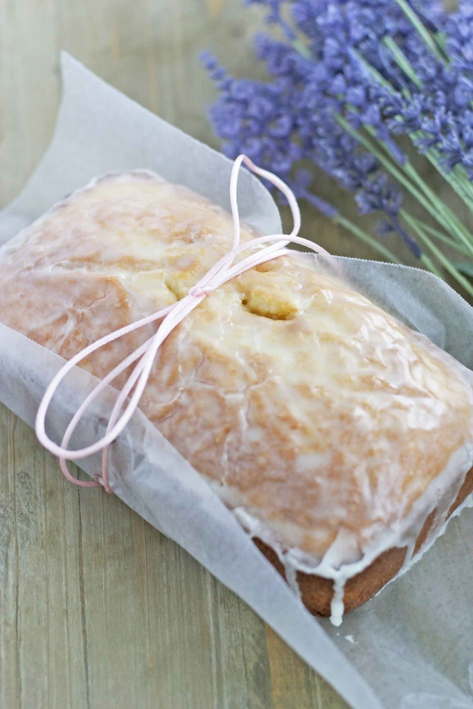 lavender loaf with lemon glaze