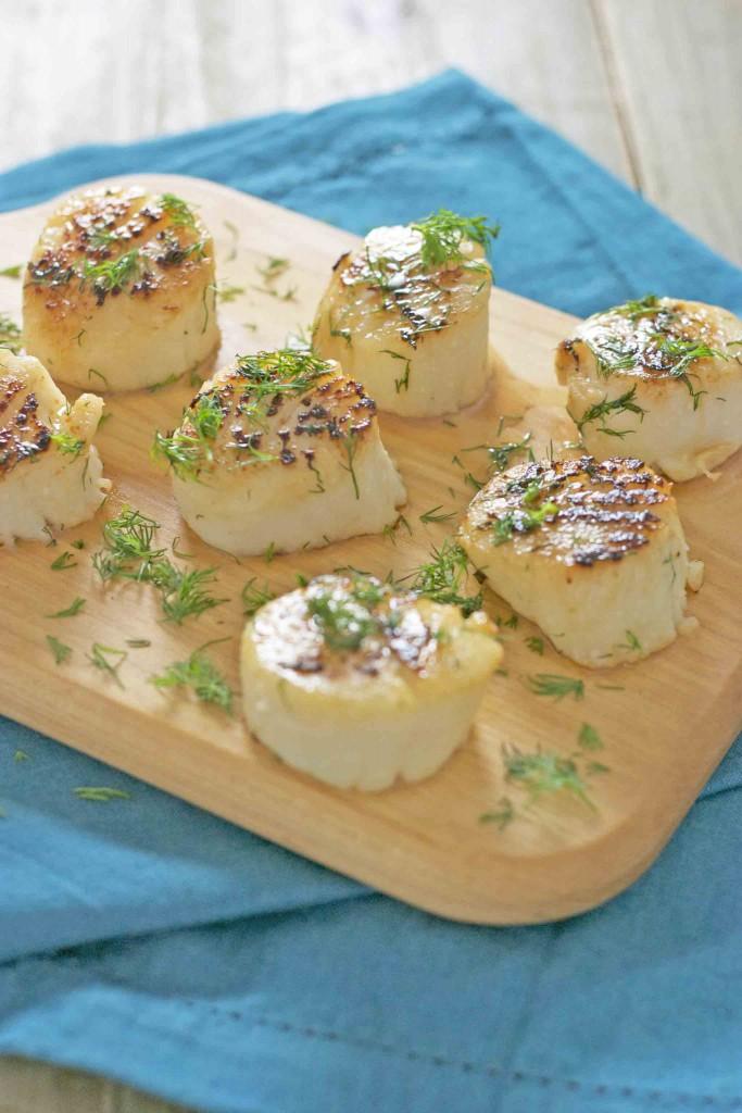 scallops in fennel butter