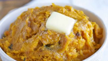 Mashed roast butternut squash