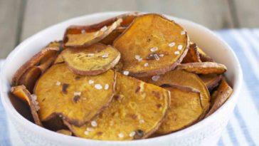 salt and vinegar sweet potato chips